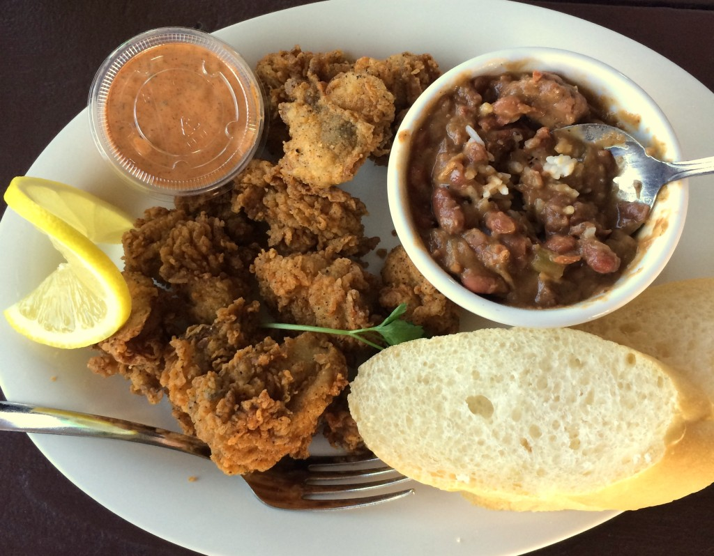 Cajun Cafe fried oysters