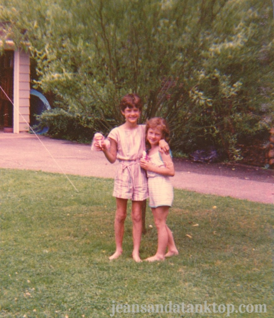 Big Sister and Yours Truly around the right age for this story