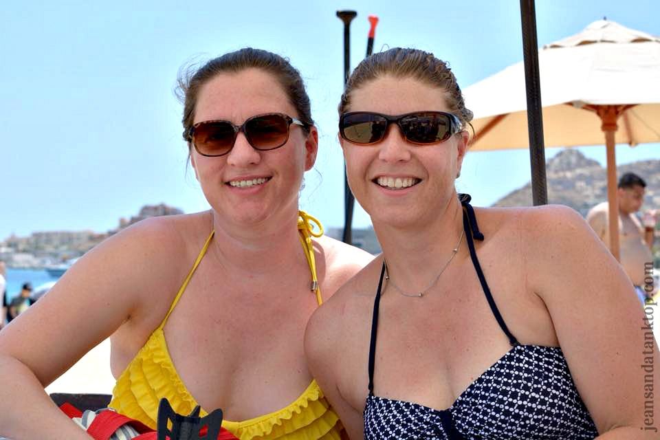 with Susan in Cabo San Lucas, Mexico - Spring Break, many years post-college