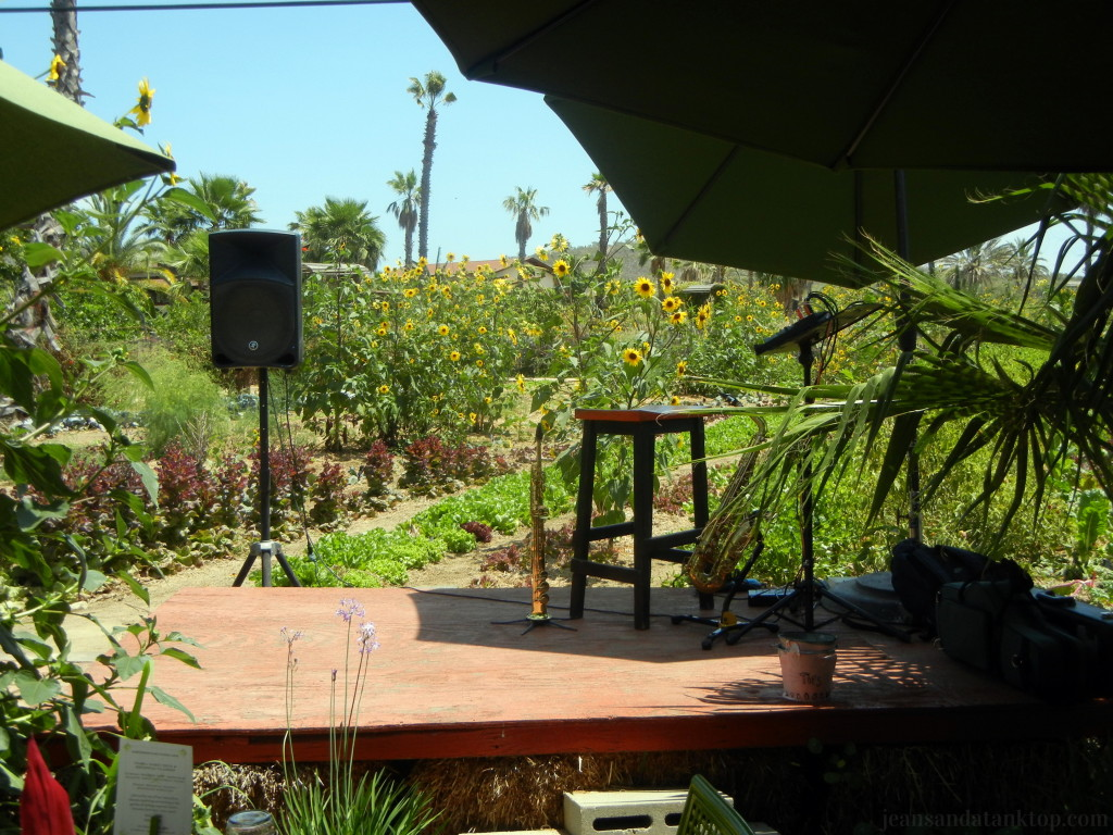 Flora Farm Field Kitchen Musician Stage