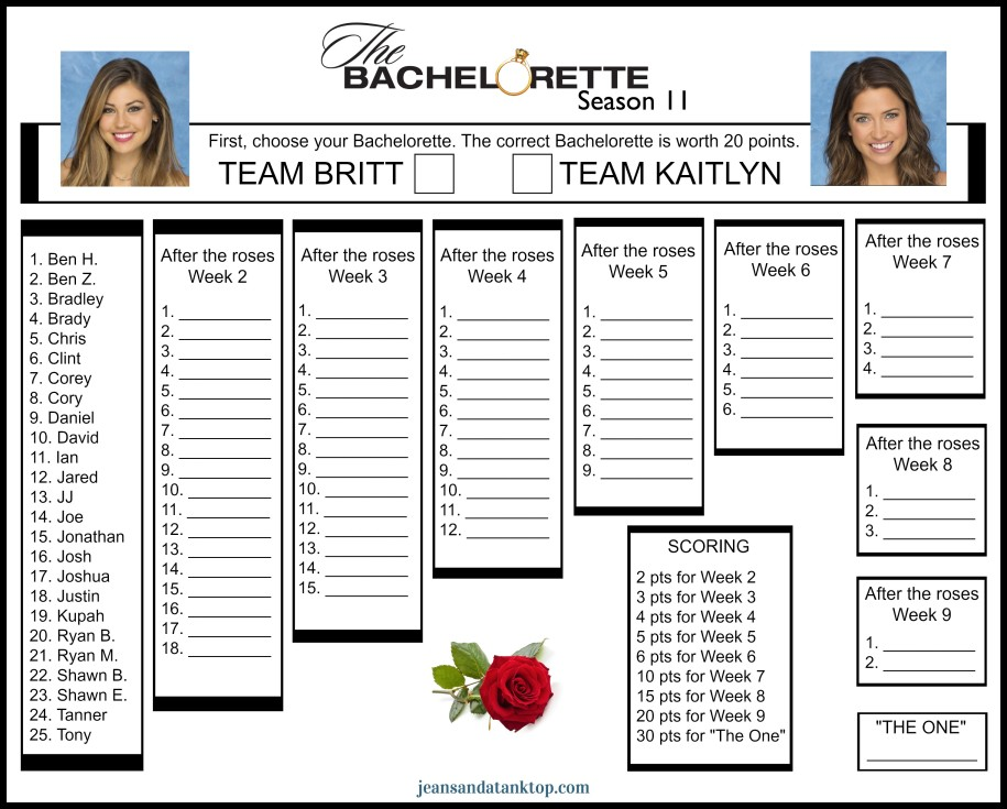picture about Bachelorette Bracket Printable named Tag Archive for \