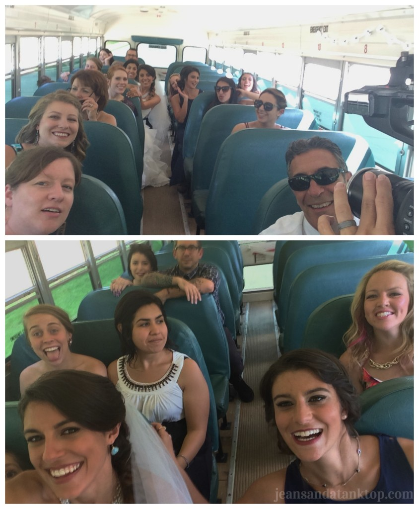 Bride's Bus Selfie Stick