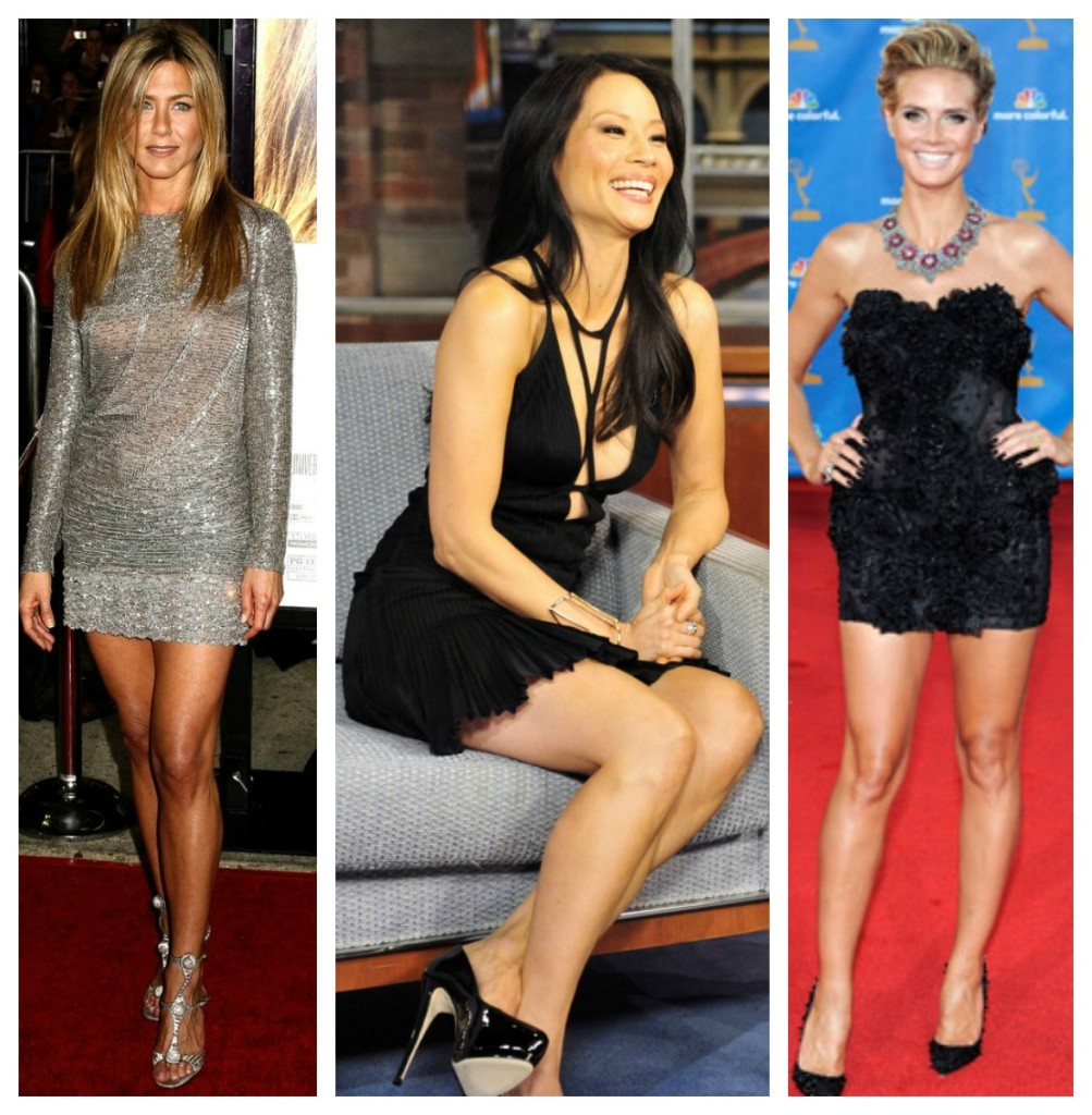 Celebs over 30 in short dresses