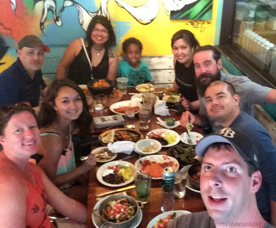 Dinner at Salsa's Selfie Stick
