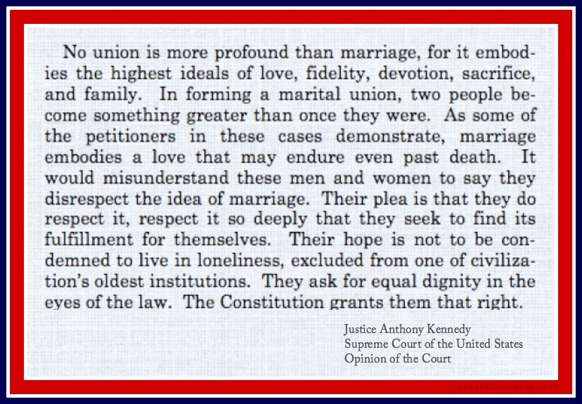 Kennedy Opinion on Marriage