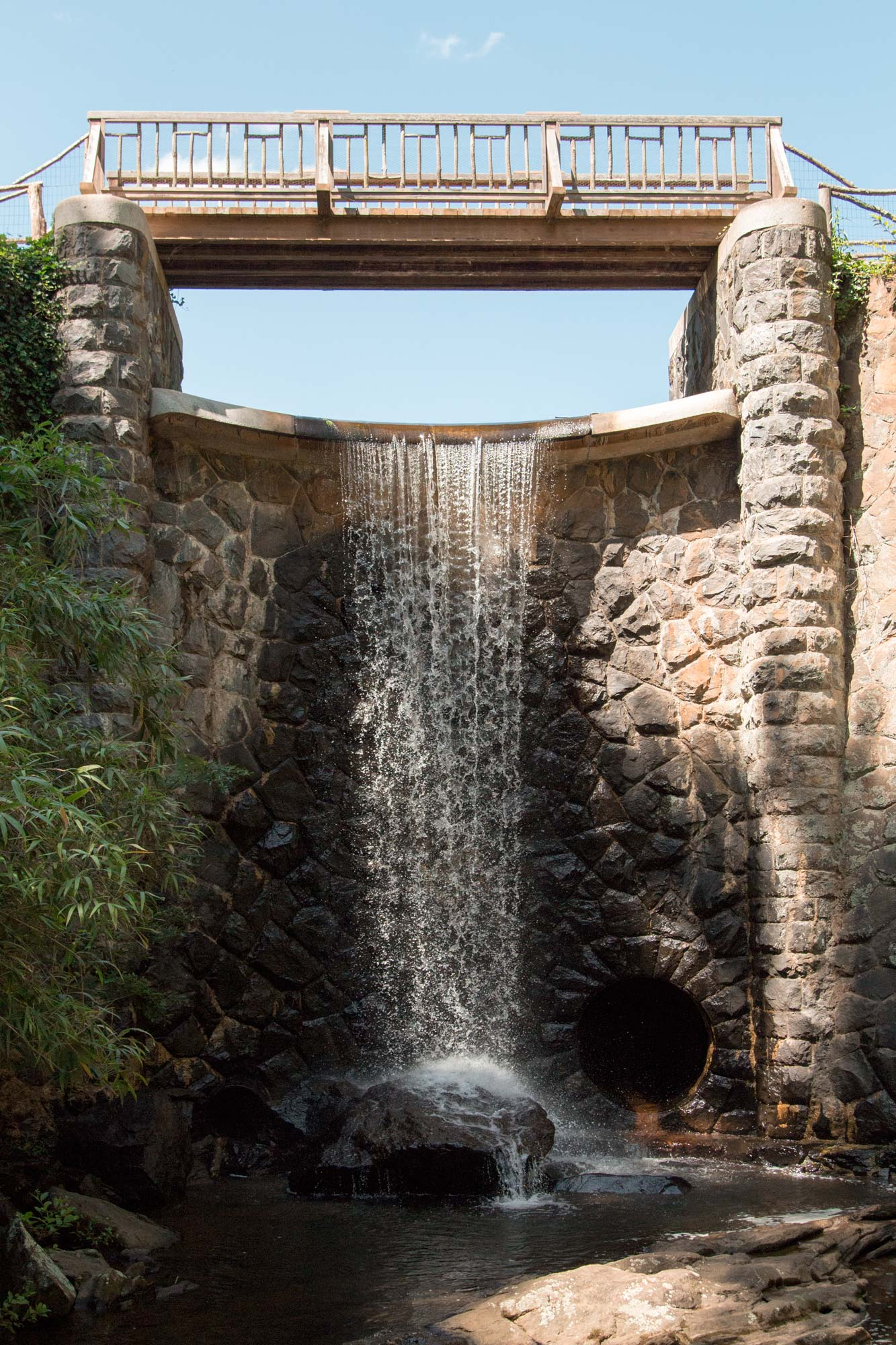 The gentle waterfall, coy pond, and exquisite landscaping ... |Gentle Waterfall Pond