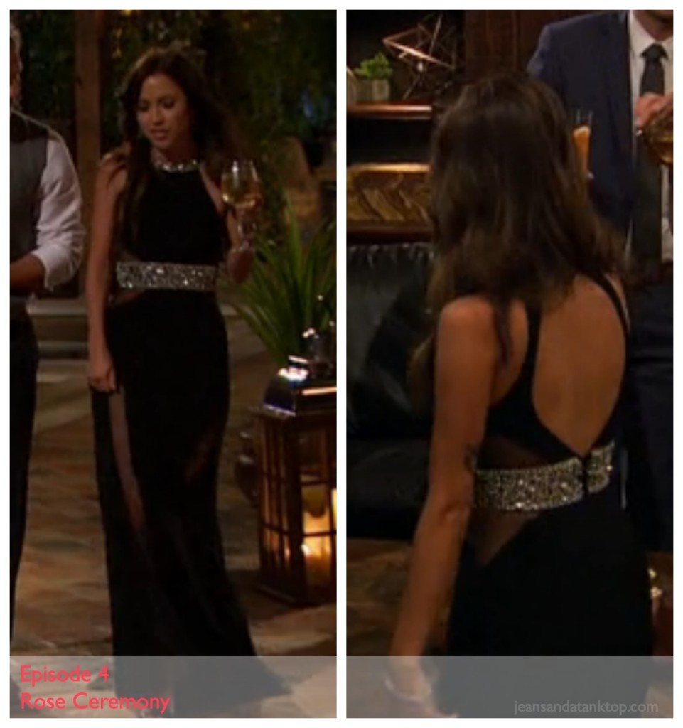 Kaitlyn Episode 4 Black High-Neck Sheer Open Back