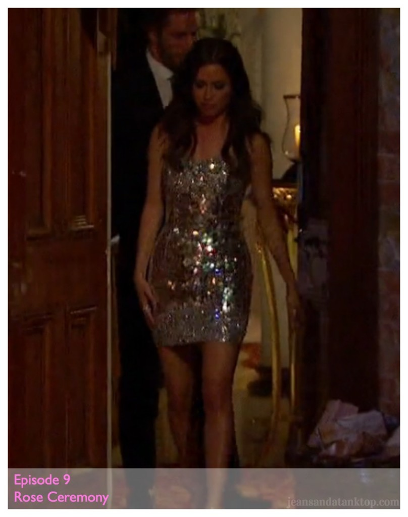 Kaitlyn Episode 9 Silver Mini Dress