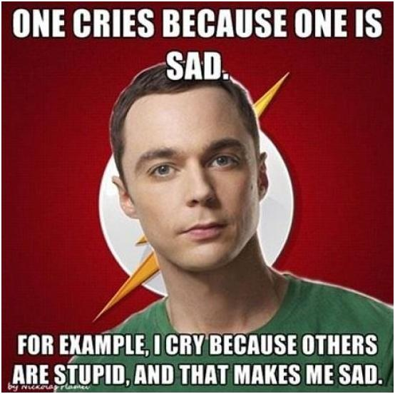 Sheldon Cries