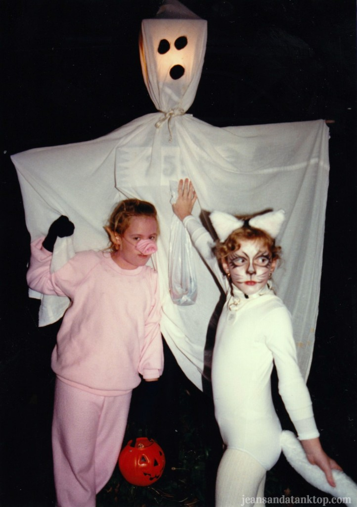 Cat and Pig Halloween 1987