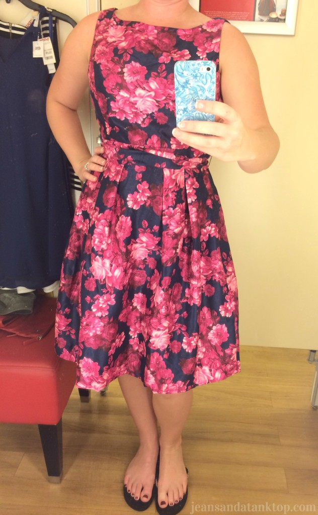 TJMaxx vintage style floral cocktail dress