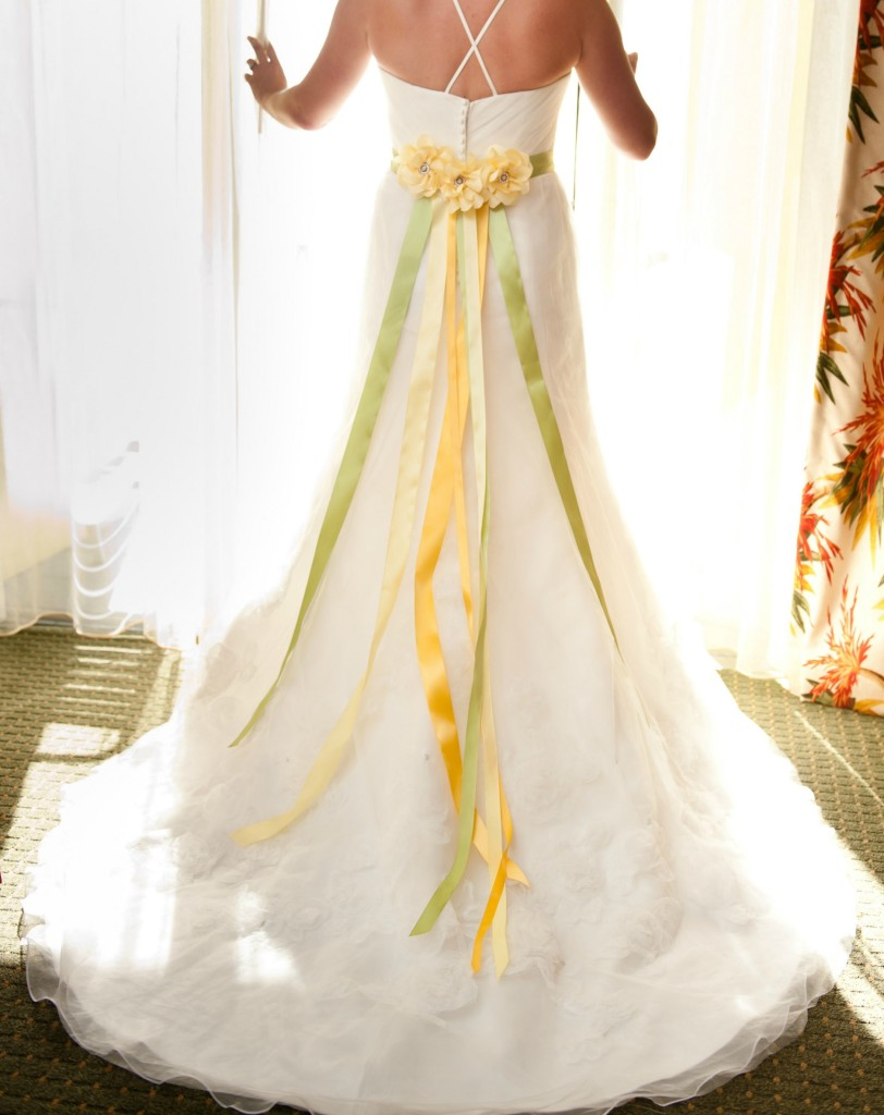 Cassia Tree Bridal Sash