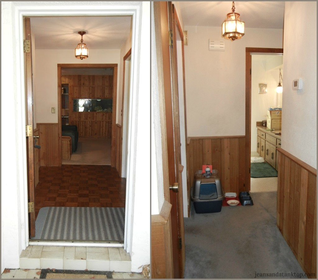 Entry Front Hall Before