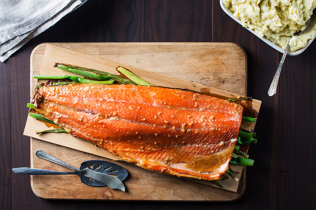 Epicurious Cedar Plank Salmon Recipe Photo