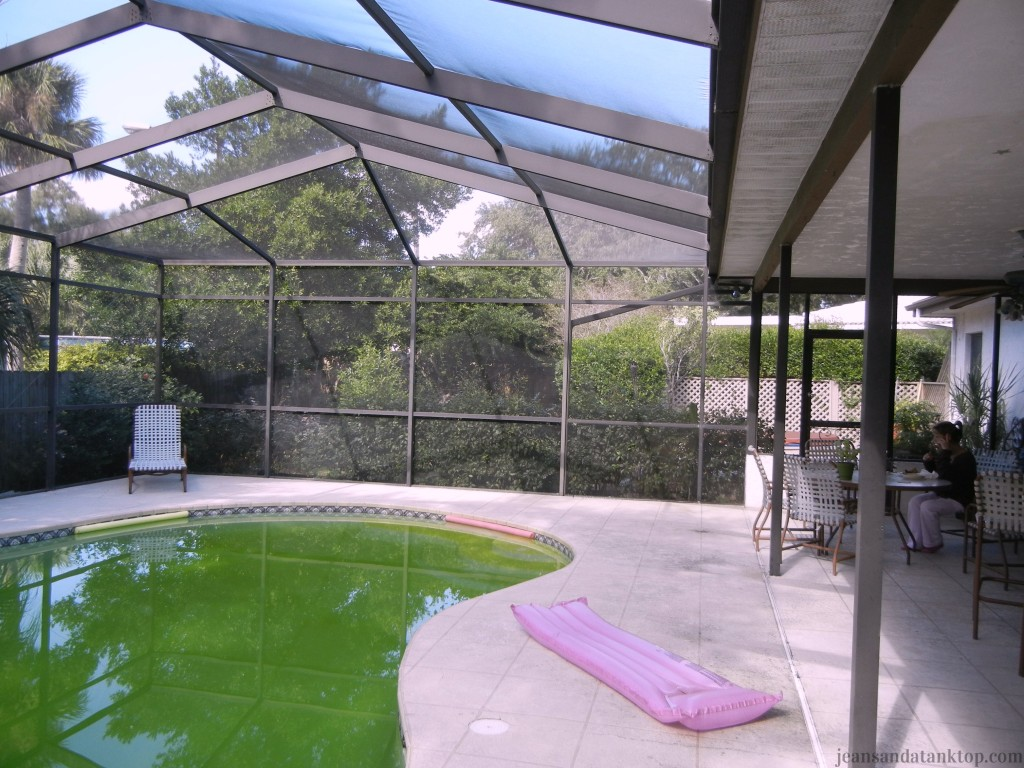 Pool Area Before