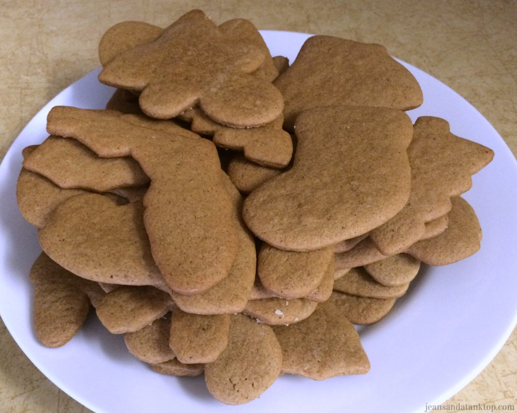 Gingerbread Cookies on plate