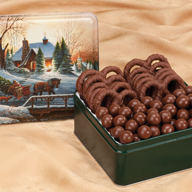 Malleys Chocolates Pretzel Tin