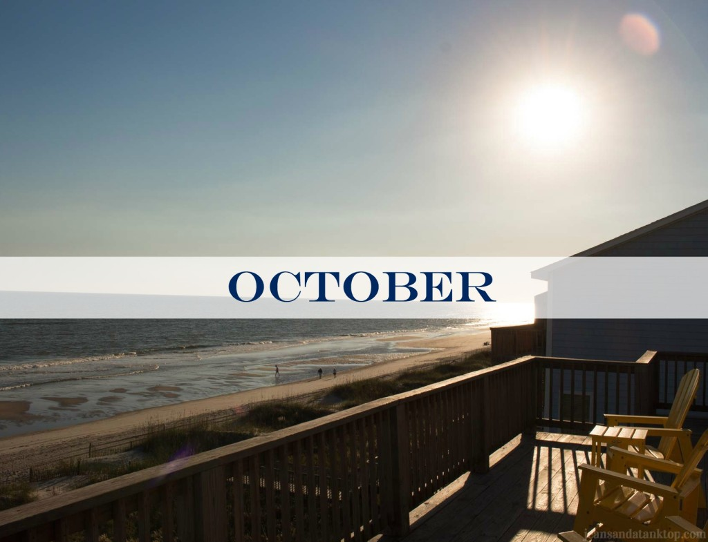 October Emerald Isle North Carolina