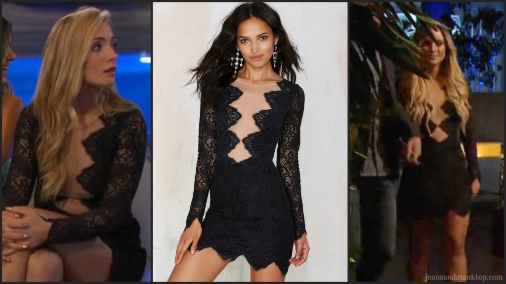 Bachelor For Love and Lemons Noir Lace Mini Amanda Leah