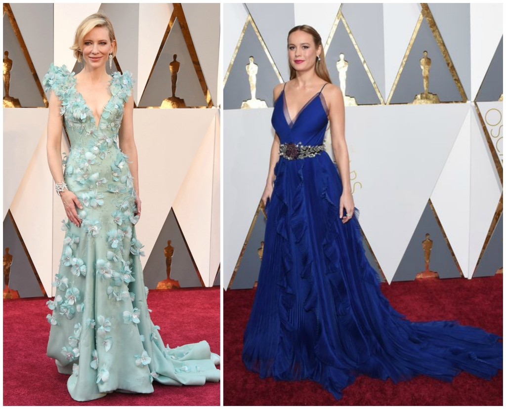 Oscars 2016 Best Dressed Women Cate Blanchett Armani Prive Brie Larson Gucci