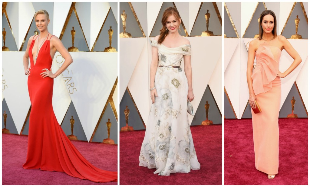 Oscars 2016 Charlize Theron Dior Isla Fisher Marchesa Louise Roe Christian Siriano