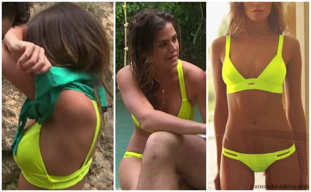 Bachelor Finale JoJo yellow green bikini Vitamin A