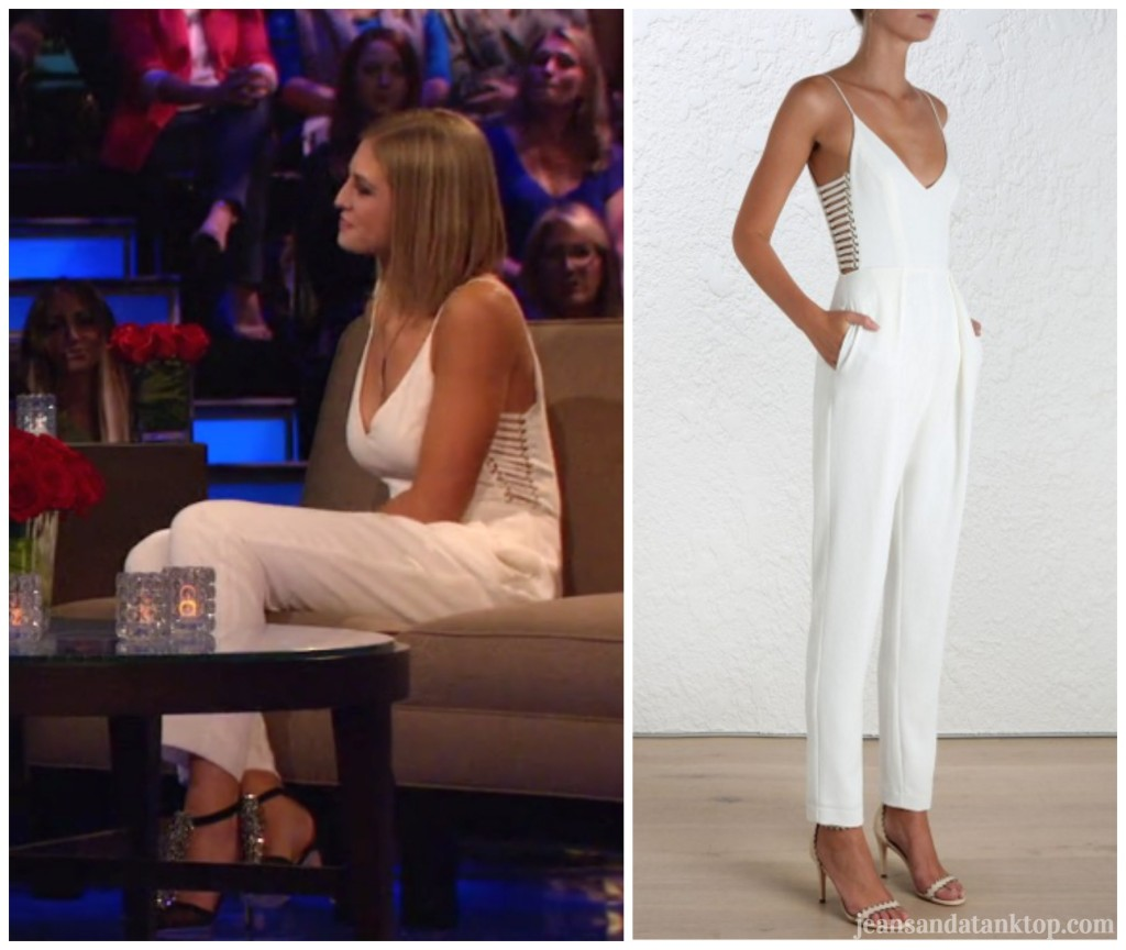 Bachelor Women Tell All Olivia white jumpsuit Zimmermann