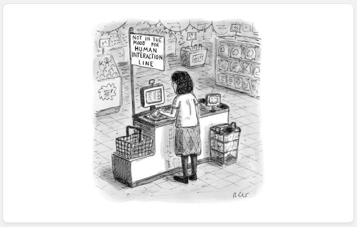 Self Check Out New Yorker Cartoon