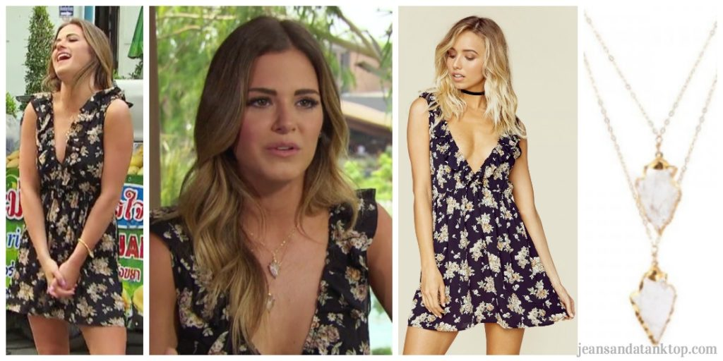 Bachelorette JoJoEpisode 9 black floral v dress Thailand