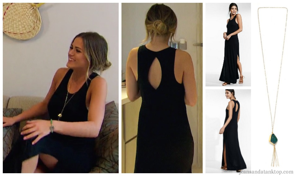 Bachelorette JoJo Episode 9 black keyhole maxi dress Thailand