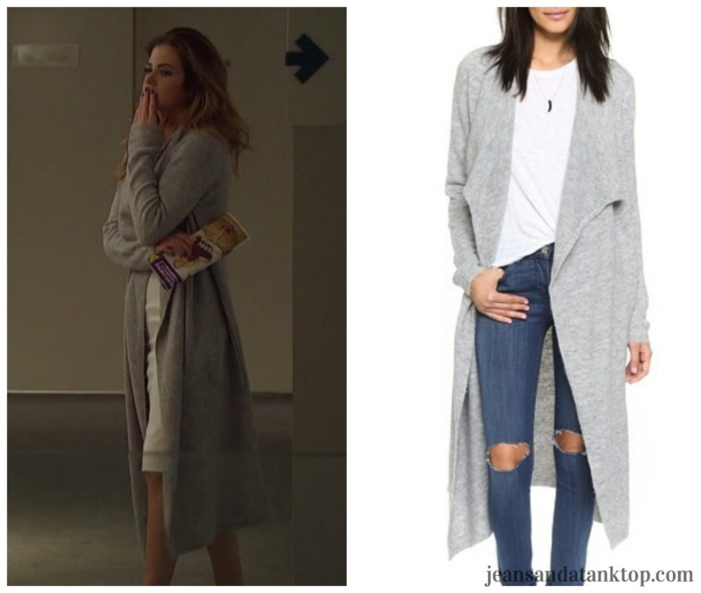 Bachelorette JoJo gray duster cardigan