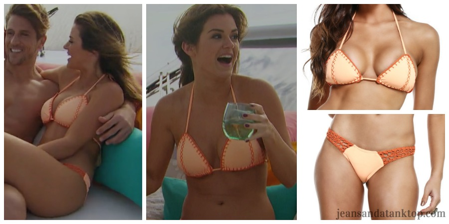 Bachelorette JoJo Episode 5 orange stitch bikini