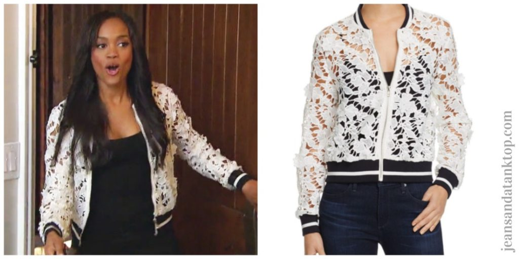 Bachelorette Rachel Lucy Paris Grace Bomber Jacket Episode 1