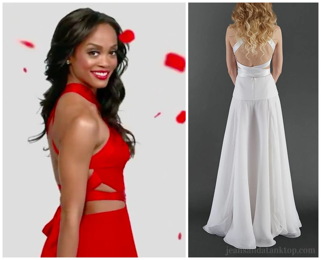 Bachelorette Rachel Randi Rahm Rose Gown Season 13 Back