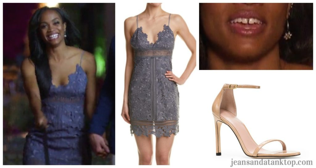 Bachelorette Rachel Fashion Episode 2 Saylor Maya Lace Blue Dress