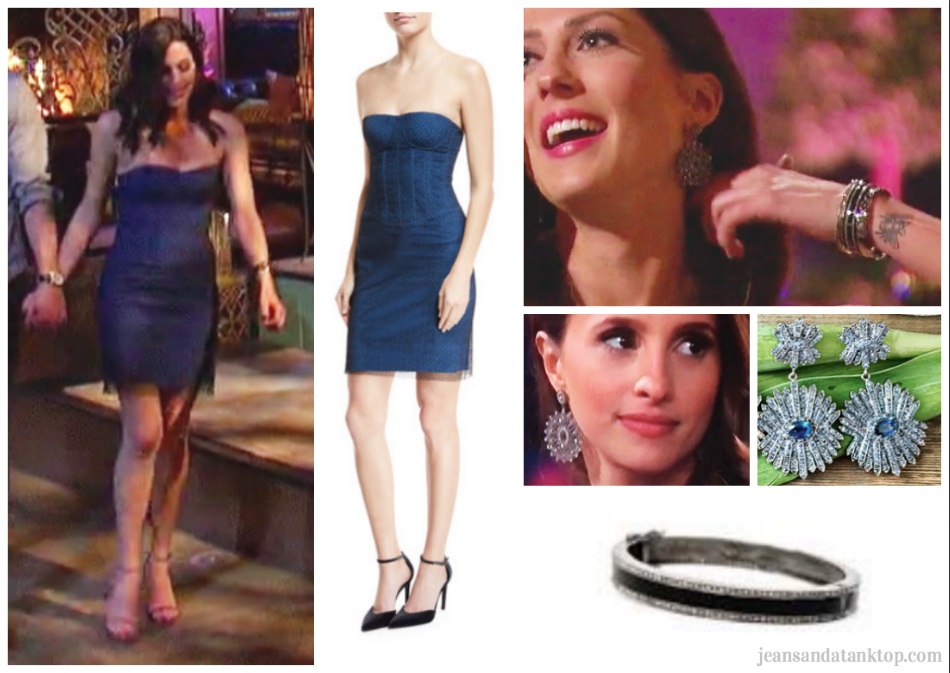 Bachelorette Becca Episode 2 blue minidress