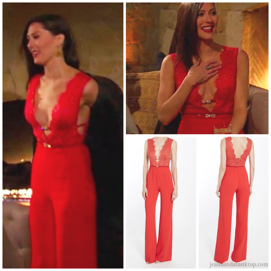 Bachelorette Becca Episode 2 Red Jumpsuit