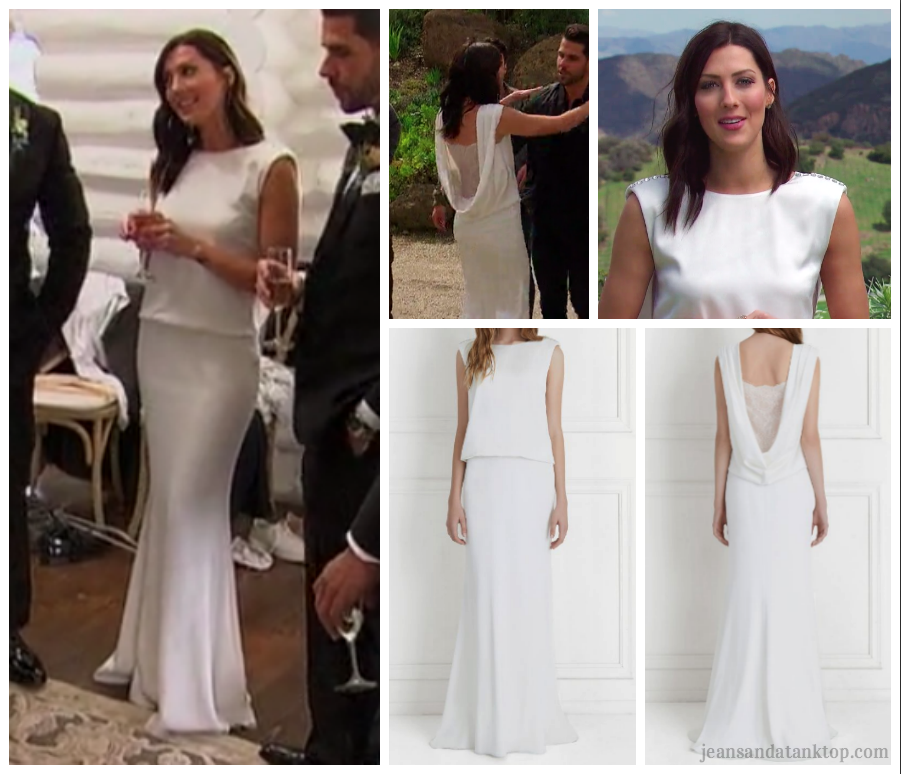 Bachelorette Becca Season 14 Episode 2 white gown Rachel Zoe
