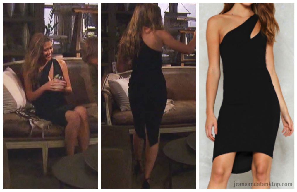Bachelor Caelynn Episode 3 cutout one shoulder dress